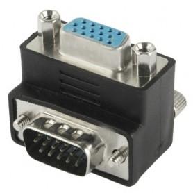 Adattatore ad angolo a 90 gradi VGA 15 pin maschio femmina