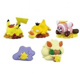 Pokemon SET 5 FIGURE Collezione SOLE E LUNA 4cm