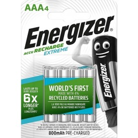 Energizer Batterie Ricaricabili AAA, Recharge Extreme, Conf.da 4