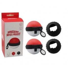 Nintendo Switch Plus Poke Mon Ball Storage Kit (Rosso)