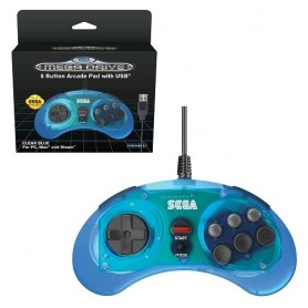 Retro-bit SEGA Mega Drive 8-Button USB Blue - Gamepad