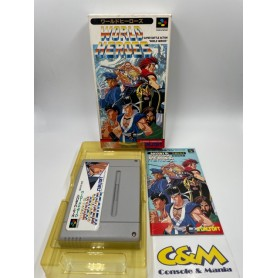 WORLD HEROES Super Famicom Jap USATO
