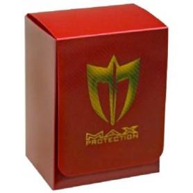 MAX PROTECTION Porta mazzo verticale Metallic Red + Lightning Gold Logo