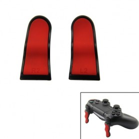 PS4 Controller L2 R2 Extended Triggers-Black+Red
