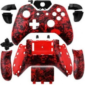 Case Controller with Buttons Red/BlacK XONE