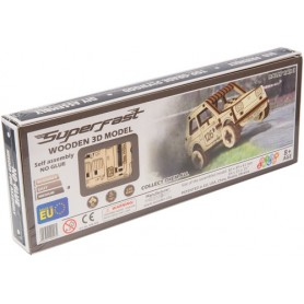 WoodenCity: Wooden Super Fast Series (Rally Car Fiat) (3D Puzzle)