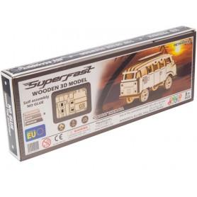 WoodenCity: Wooden Super Fast Series (Retro Ride VW Van) (3D Puzzle)