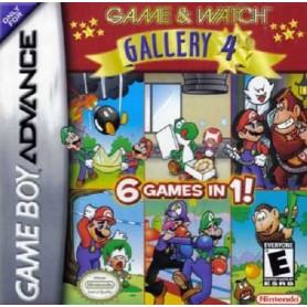 Game&Watch 6 Games in 1 (solo card) Nintendo GBA USATO