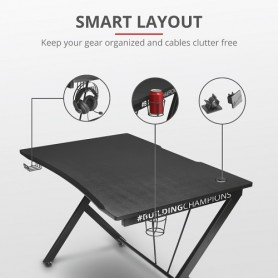 Trust GXT711 Scrivania Gaming table Black