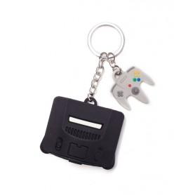 Nintendo - Nintendo 64 & Controller 3D Rubber Keychain (portachiave)