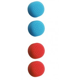 Nintendo Switch Joystick increased Slilicon Caps 2PCS (Light Blue/RED )