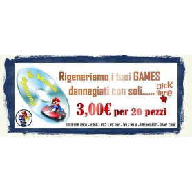RIGENERA GAMES CD E DVD PER 20 PZ