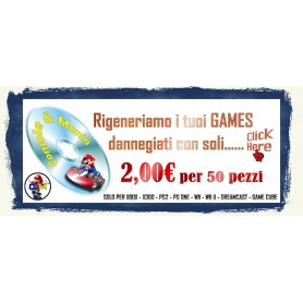 RIGENERA GAMES CD E DVD PER 50 PZ