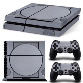 Set adesivi retro console per console ps4