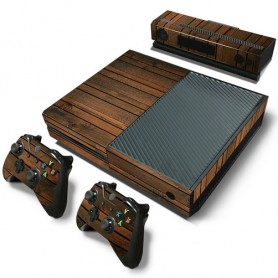 Set adesivi vinyl wood v2 per console xbox one